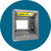 For bank customers through ATMs or online banking services